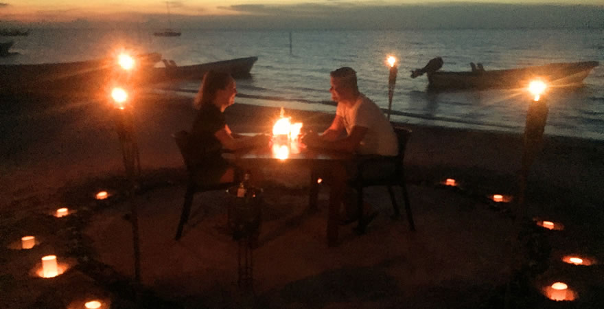 Romantic Dinner on the Holbox Beach